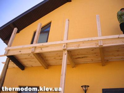 Как сделать балкон в частном доме своими руками фото.