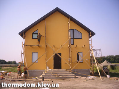 Фасад термодома