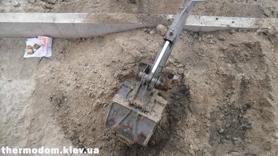 Фундамент с грунтом